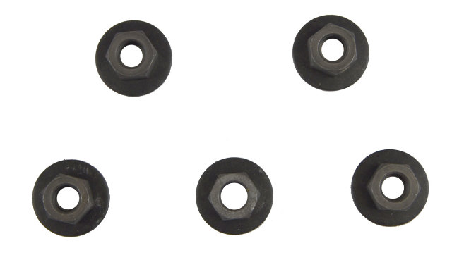 GM Hex Head Nuts W/Locking Washer New OEM M10 X 1.50 Pack of 5 25541535