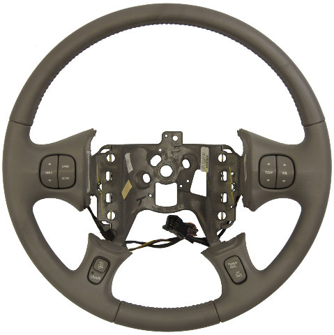 2004-2005 Buick LeSabre Steering Wheel Med Grey Leather New W/Cruise/Audio/Temp