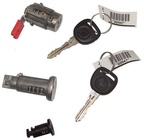 2007-2010 Saturn Sky Ignition+Door+Glove Box Lock Cylinders W/2 Keys OEM New