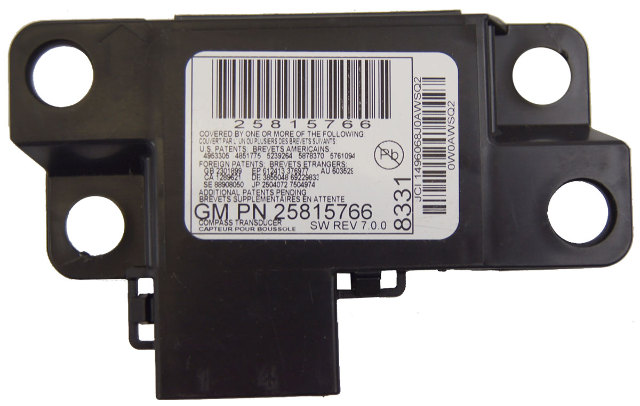 GM Vehicles Electronic Compass Module New OEM 25815766 25916726 20860277