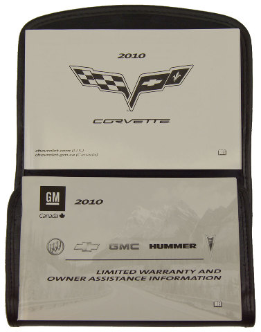 2010 Chevrolet Corvette C6 Owners Manual OEM GM English & French Canada