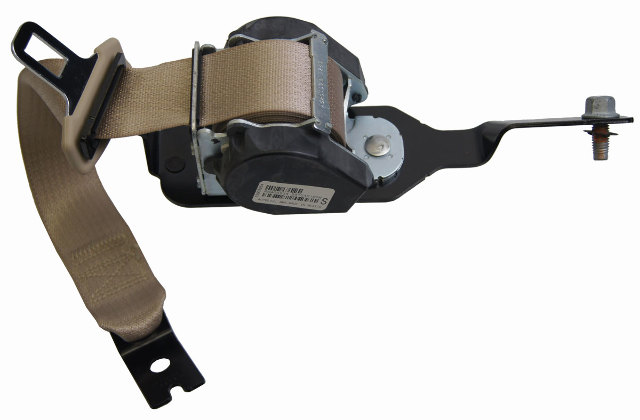 2007 2009 Saturn Aura Rear Lh Seat Belt Neutral Tan