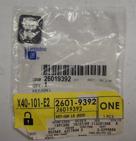 1986-2002 GM Uncut Blank Key W/Chip New OEM 26019392 26012102 595512AD1