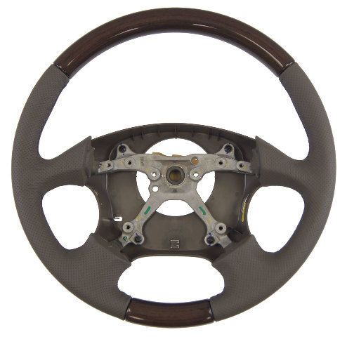 Subaru Steering Wheel Dark Beige W Woodgrain Dimpled