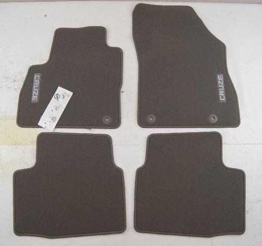 2016-2017 Chevy Cruze Floor Mat Set 4pcs New Dark Atmosphere Grey OEM 39084564
