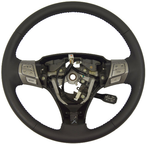 2007-2008 Toyota Solara Dark Gray Leather Steering Wheel New OEM Cruise Audio/Tel