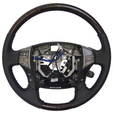 C Toyota Avalon Steering Wheel New Black W Woodgrain Audio Temp Control on 2001 Chevy Malibu Owners Manual
