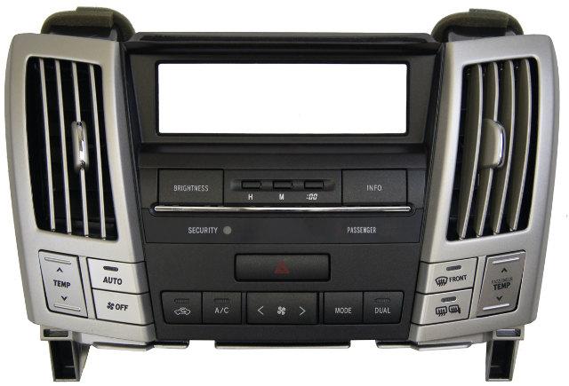 2004-2006 Lexus RX330 Dual Climate Control Dash Bezel New OEM SIlver 554120E010
