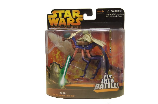 Star Wars Revenge Of The Sith Yoda On Can Cell Fly Into Battle Action Figure Nib Factory Oem Parts