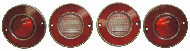 1975-1979 Chevy Corvette C3 Tail Light W/Backup Light Set(qty 4)New Reproduction