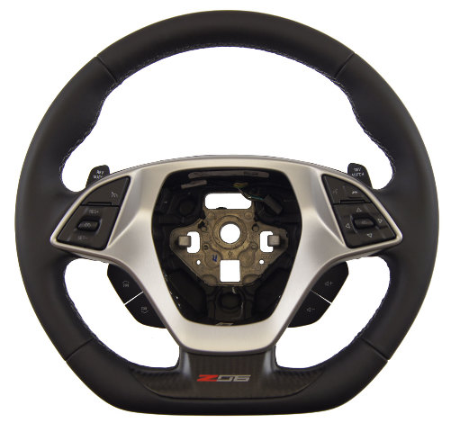 2014-2018 Corvette C7 Z06 Steering Wheel Black Leather W/Gray Stitch 84198720