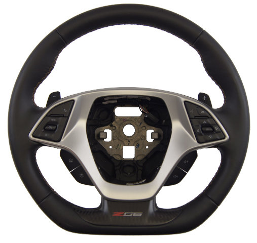 2014-18 Corvette C7 Z06 Steering Wheel Black Leather W/Kalahari Stitch 84198731