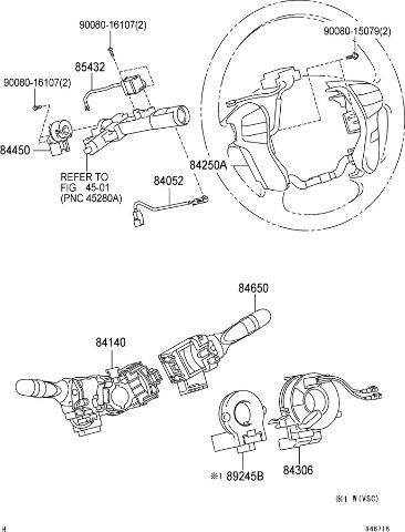 2008 2011 Toyota Avalon Steering Wheel Controls Dark Grey New Oem
