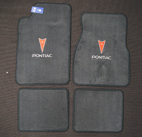 93-02 Pontiac Firebird Trans Am 4pc Floor Mats New Graphite Grey W/Pontiac Logo