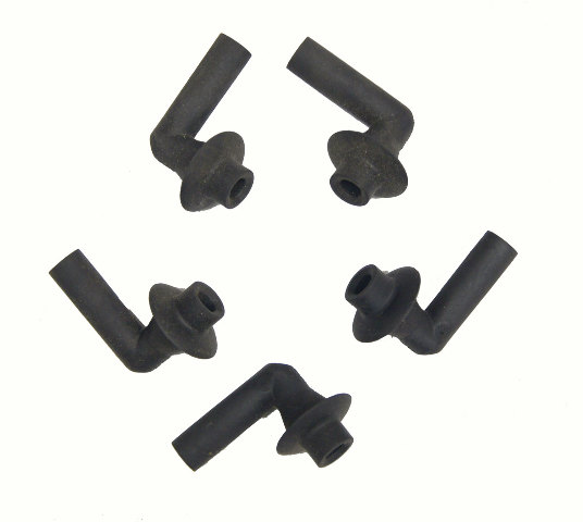 "Qty 5 - 1/2"" Rubber Drain Hose Grommet Body Firewall Trunk Floor Flushmount"