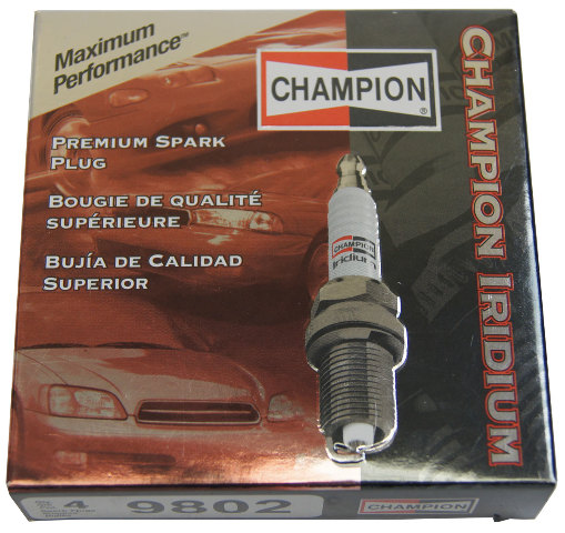 Champion Iridium Spark Plugs Box Of 4 New Old Stock 9802