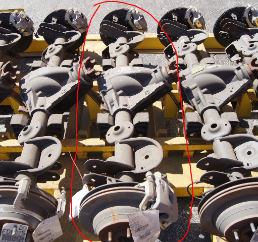 2006-2009 Chevrolet Trailblazer Rear Axle W/Brakes 3:42 Ratio Limited Slip FD6