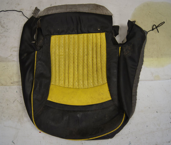 1997-2004 Chevy Corvette C5 Sport Passenger Side Lower Seat Cover Yellow & Black Used