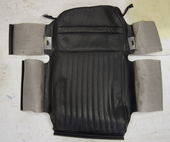 1997-2004 Chevy Corvette C5 Sport Driver Side Upper Seat Cover Black Used