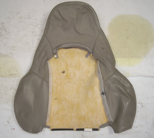 1997-2004 Chevy Corvette C5 Sport Driver Side Upper Outer Seat Cover Gray Used