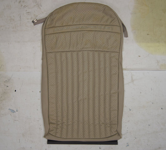 1997-2004 Corvette C5 Sport Driver Side Upper Seat Cover Tan Used Commemorative