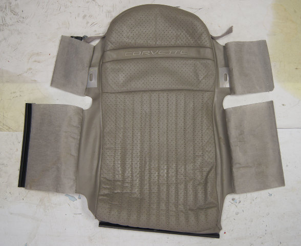 1997-2004 Chevy Corvette C5 Sport Driver Side Upper Inner Seat Cover Gray Used