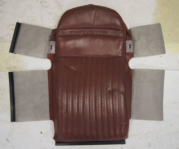 1997-2004 Chevy Corvette C5 Sport Driver Side Upper Inner Seat Cover Maroon Used