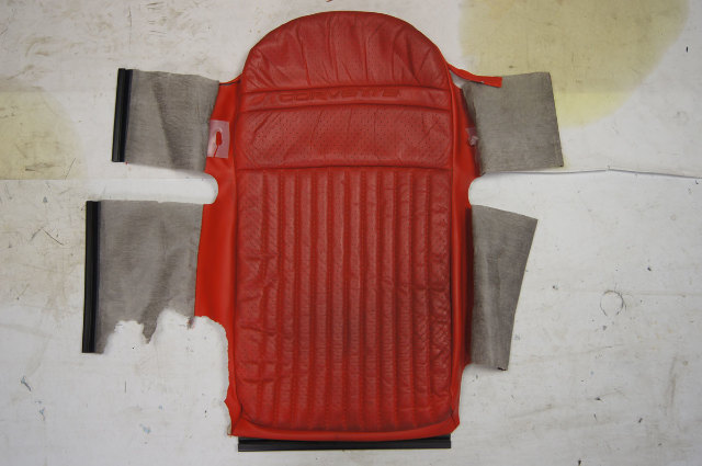 1997-2004 Chevy Corvette C5 Sport Driver Side Upper Inner Seat Cover Red Used