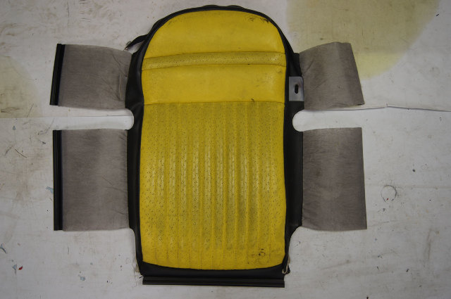 1997-04 Corvette C5 Sport Driver Side Upper Inner Seat Cover Yellow & Black Used