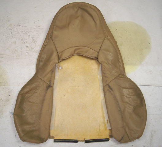 1997-2004 Chevy Corvette C5 Sport Passenger Side Upper Outer Seat Cover Tan Used