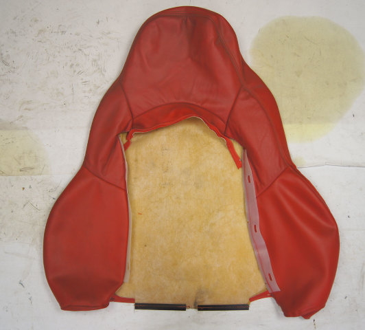 1997-2004 Chevy Corvette C5 Sport Passenger Side Upper Seat Cover Red Used