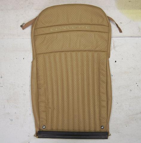 1997-2004 Chevy Corvette C5 Sport Passenger Side Upper Seat Cover Tan Used