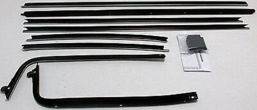 1970-1972 Chevy Chevelle Coupe Window Felt Kit New 8pcs Resto Parts CH197A