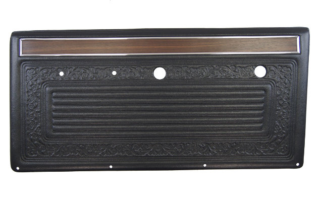 1967-1972 Full-size Pickup C10 Suburban Door Panel Pair 2pcs Claret Black W/Wood