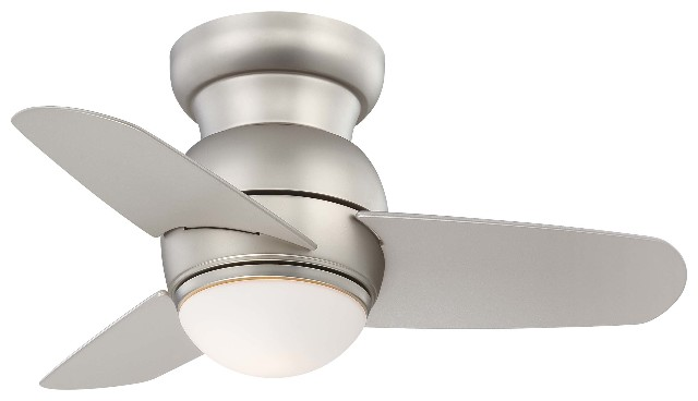 "Minka Aire Spacesaver Led Fan 26"" Ceiling Fan - Brushed Steel"