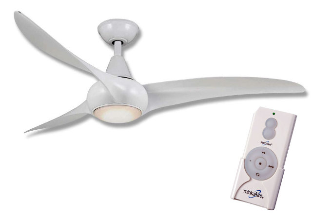 F Wh Minka Aire F Light Wave Ceiling Fan W Remote Control White