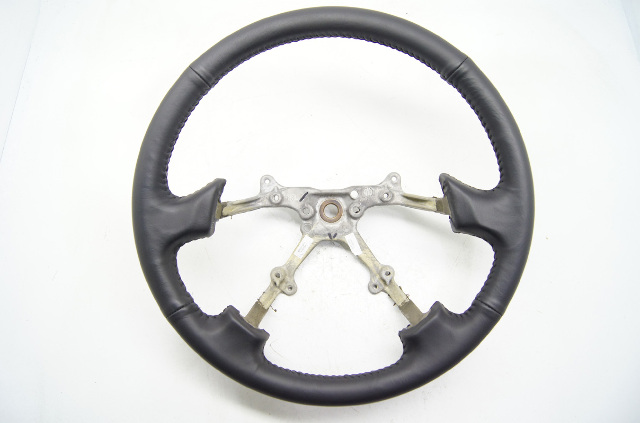 00 04 Subaru Legacy Steering Wheel Ebony Complete T01162