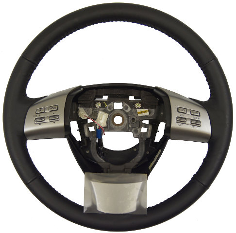 2009 2010 Mazda 6 Steering Wheel Black Leather New Oem W
