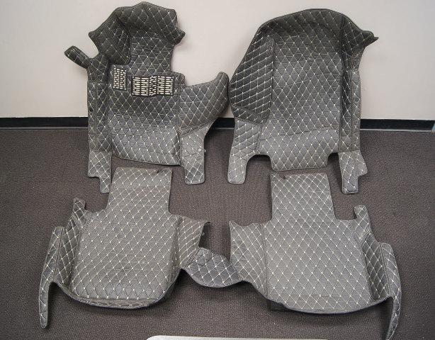 2003-2013 Maserati Quattroporte Floor Mat Set Black W/Tan Stitching Used 4pcs