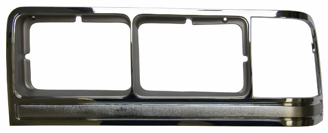 1988 91 mercury grand marquis left lh headlight bezel chrome mc07008 e8my13064b factory oem parts. Black Bedroom Furniture Sets. Home Design Ideas