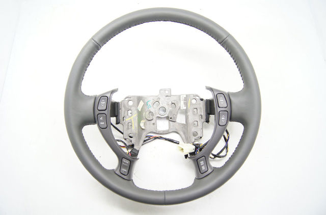 Cadillac 2000-2005 DeVille Seville Steering Wheel Dk Grey Leather Audio/Temp