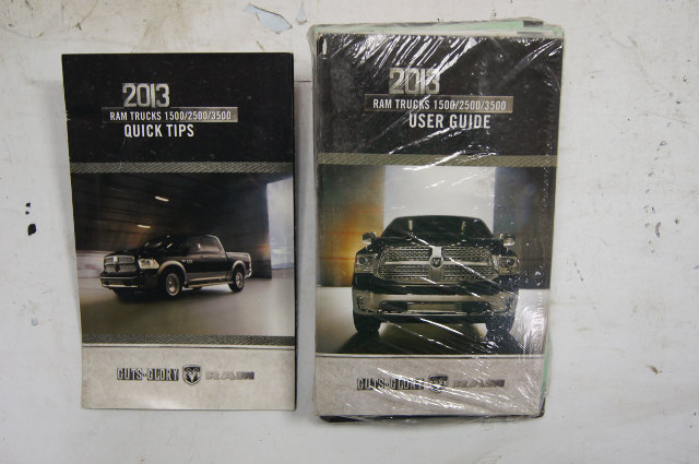 2013 Dodge Ram 1500/2500/3500 Owners Manual W/Pouch New OEM