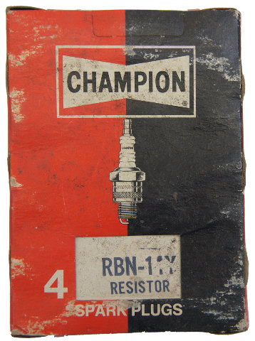 Champion Resistor Spark Plugs Box Of 4 New Old Stock RBN-14Y