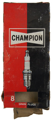 Champion Copper Plus Resistor Spark Plugs Box Of 6 New Old Stock RJ18YC8-50