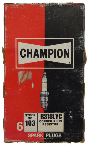 Champion Copper Plus Resistor Spark Plugs Box Of 6 New Old Stock RS13LYC-103