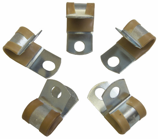 Pack of 5 Clamps Tan Rubber New 12mm ID. Umpco S781-2