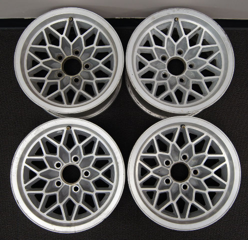 1977 1981 Trans Am Snowflake Wheel Set 4 Used Silver Ws6 15