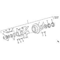 GM Topkick Kodiak C6500-7500 T6500-7500 Rear Axle Retainer Ring New 02036166
