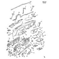 1982-1996 GM Escutcheon Retainer New OEM 03922831 01387527 00403286 81862