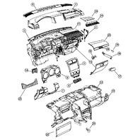 2007 Dodge Caliber RHD Knee Bolster Steering Column Panel Slate Grey 1AV65BDAAB